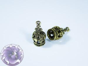 Концевик для шнуров, жгута и кистей 9х19мм цвет Чернёная бронза