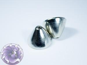 Концевик для шнуров, жгута и кистей 21х16мм цвет Серебро