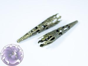 Концевик для шнуров, жгута и кистей 8х42мм цвет Бронза