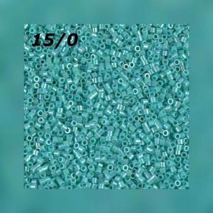 Бисер Miyuki Delica 15/0 DBS0166 Op Turquoise Green AB