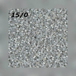 Бисер Miyuki Delica 15/0 DBS0252 Op Gray Luster
