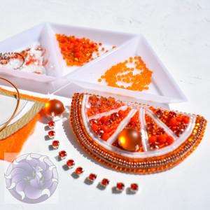 Набор для создания броши Апельсин