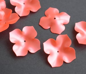 Пайетки фигурные, 5г, Цветок 25мм, цвет Coral, 5145