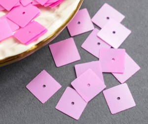 Пайетки фигурные 10мм, Квадрат,цвет Lilac, 723
