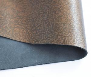 Кожа натуральная итальянская 0,6мм Бронза металлик