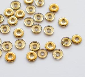 O bead ® 2 x 4 mm Crystal Amber