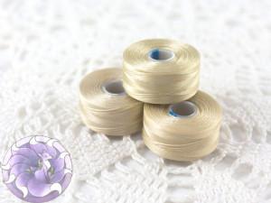 Нить для бисера C-LON size AA 15 Dk Cream