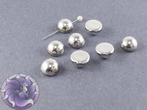 Dome Bead 12x7mm Crystal Labrador Full