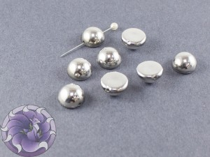 Dome Bead 12x7mm Crystal Labrador Full