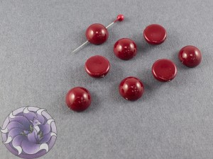 Dome Bead 12x7mm Cranberry