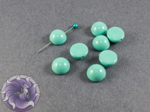 Dome Bead 12x7mm Turquoise Blue