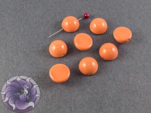 Dome Bead 12x7mm Peach Coral