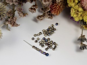 Fire polished 3mm Crystal Etched Glittery Argentic