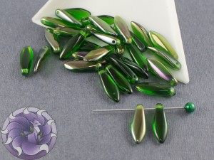 1-hole Glass Daggers 5x16mm Chrysolite Clarit