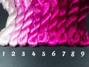 Шелковые нитки для вышивки, мулине шелк №39 Розовая палитра