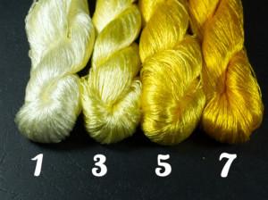 Шелковые нитки для вышивки, мулине шелк №8 Желтая палитра