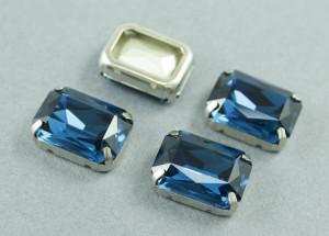 Кристалл форма Багет 18*13мм, цвет Blue Zircon, БЕЗ ОПРАВЫ