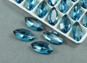 Кристалл лаковый Маркиз 18*10мм, Цвет Blue Zircon