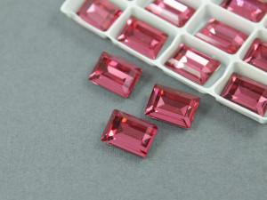 Кристалл форма Багет 10*14мм, цвет Розовый