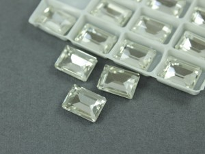 Кристалл форма Багет 10*14мм, цвет Прозрачный