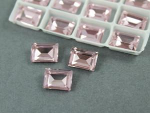 Кристалл форма Багет 10*14мм, цвет Light Pink