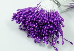 Тычинки глянцевые двусторонние Цвет Фиолетовый