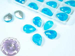 Кристалл опал 14*10мм капля цвет Air Blue