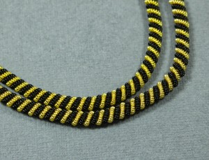 Канитель фигурная двойная 4мм, Black/Gold
