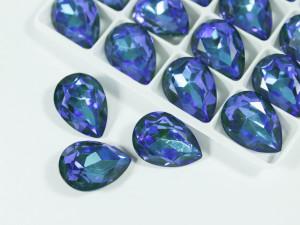 Кристалл Капля 18х13мм цвет Синий Циркон AB