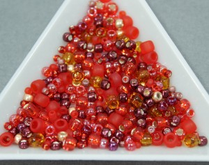 Бисер TOHO 9г, Микс TOHO Beads Momiji - Red