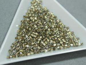 Бисер 5г TOHO- Hexagon 11/0 Gold- Lined Black Diamond