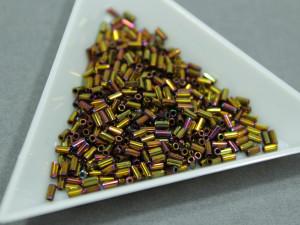 Стеклярус Miyuki 3mm, 5г, Metallic Gold Iris