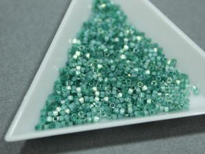 5g Бисер Miyuki Delica 11/0 DB1870 Silk Inside Dyed Emerald AB