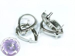 Оправы для кристаллов Капля серебряные
