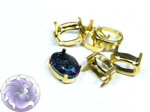 Оправы для кристаллов Овал золотые