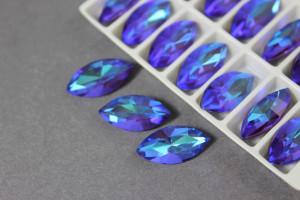 Кристалл лаковый Маркиз 18*10мм, Цвет Сапфир AB