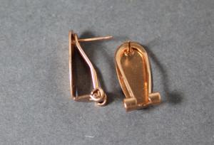 Швензы с итальянским замком 10х20мм Цвет Розовое золото