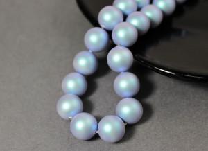 Swarovski 5810 Round Pearl Beads- Iridescent Light Blue Pearl