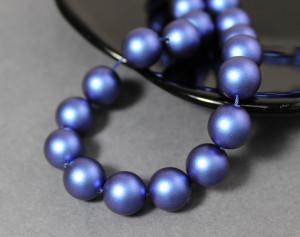Swarovski 5810 Round Pearl Beads- Iridescent Dark Blue Pearl 2мм, 4мм, 6мм, 8мм, 10мм