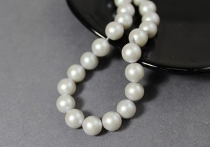 Swarovski 5810 Round Pearl Beads- Iridescent Dove Grey Pearl