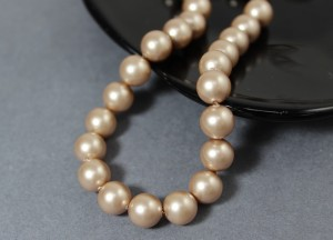 Swarovski 5810 Round Pearl Beads- Gold Pearl