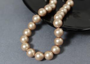 Swarovski 5810 Round Pearl Beads- Gold Pearl