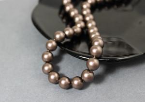 Swarovski 5810 Round Pearl Beads- Velvet Brown Pearl
