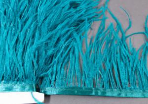 Лента из перьев страуса 10-15см Цвет Морская волна