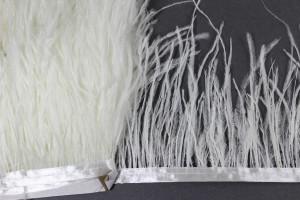 Лента из перьев страуса 10-15см Цвет Белый