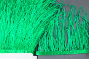 Лента из перьев страуса 10-15см Цвет Зеленый