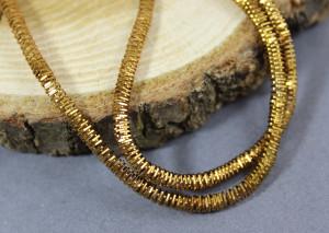 Канитель трунцал 10g, Antique Gold 3мм