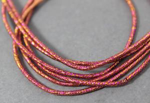 Канитель упругая 1.5мм цвет Микс розовый с золотом
