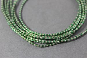 Канитель упругая 1.5мм цвет Микс зеленый с серебром