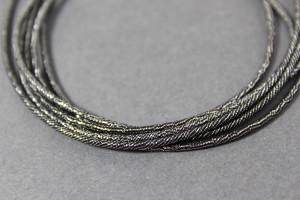 Канитель упругая 1.5мм цвет Микс черный с серебром